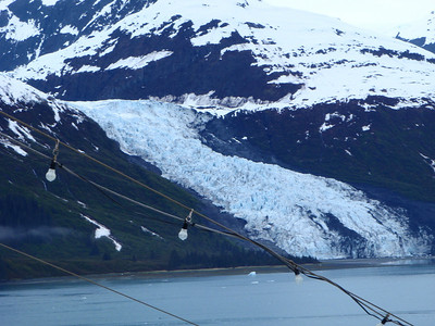 """College Fjord scenic view: notice the """"blue"""" ice"""