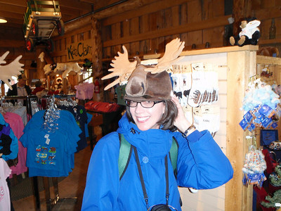 Activity: Gold Mine Tour - Jenny with moose hat