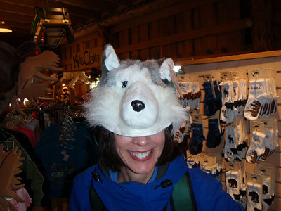 Activity: Gold Mine Tour - Jenny with sled dog hat