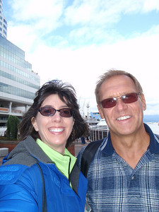 Vancouver port: Jenny and Dennis (self portrait!)