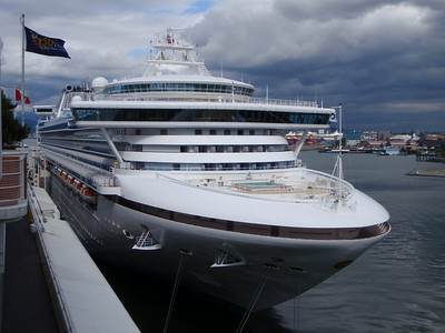 Vancouver Self-guided Tour: our Princess ship in port and boarding next cruise