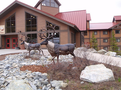 Accommodations: Denali Lodge - metal caribou