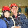Tony and Cathy suiting up for a Zip Line adventure