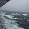 High winds and huge swells caused our first day at sea to be a little rough (actually very rough)