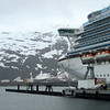 A cruise ship docked in Whittier, Alaska.