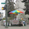 A street vendor in Anchorage, Alaska.