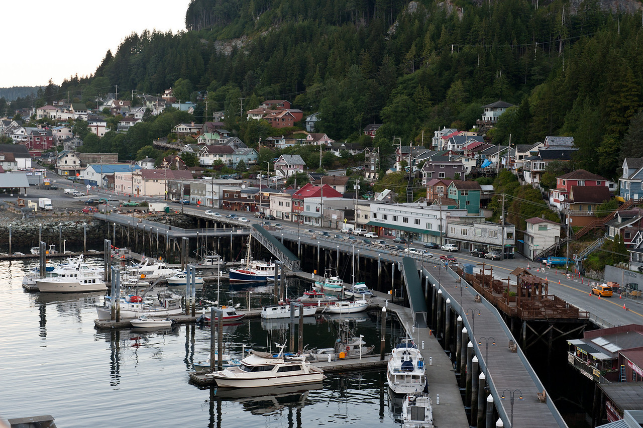 The town on Ketchikan.