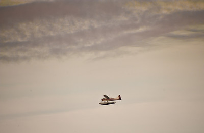 Float plane on approach to Ketchikan.