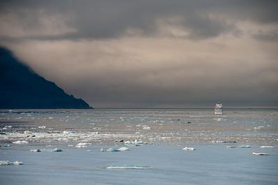 Silver Shadow leaving Hubbard Glacier inlet.
