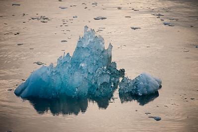 Crystalline ice.