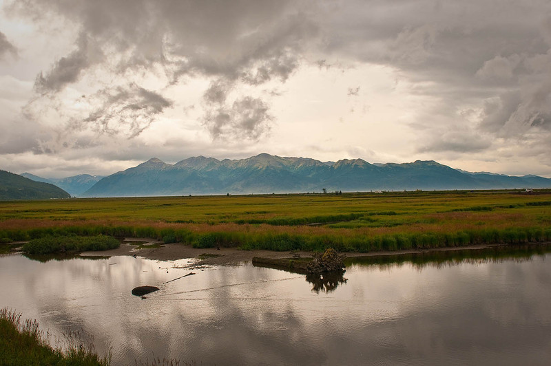 Late summer afternoon at Potter Marsh, just south of Anchorage along Turnagin Arm.