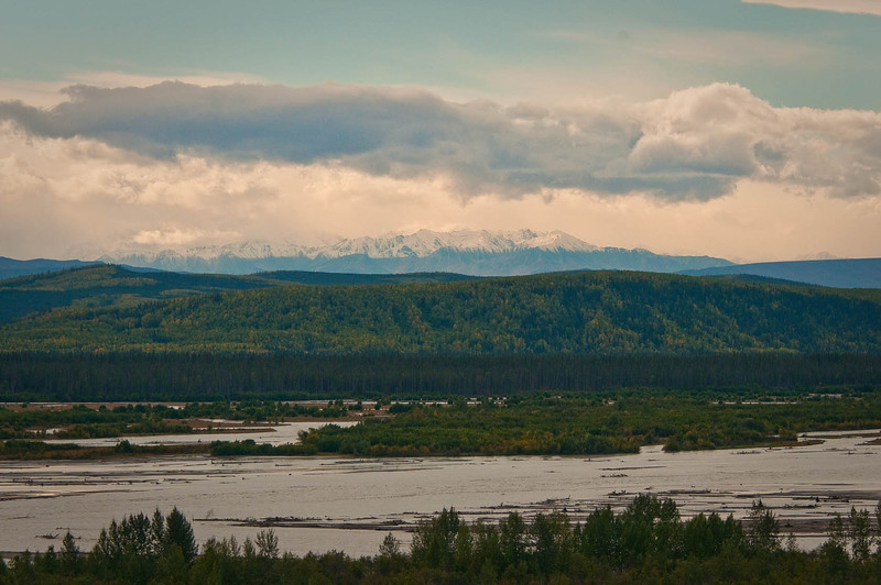 Tanana River with the Alaska Range in the background.