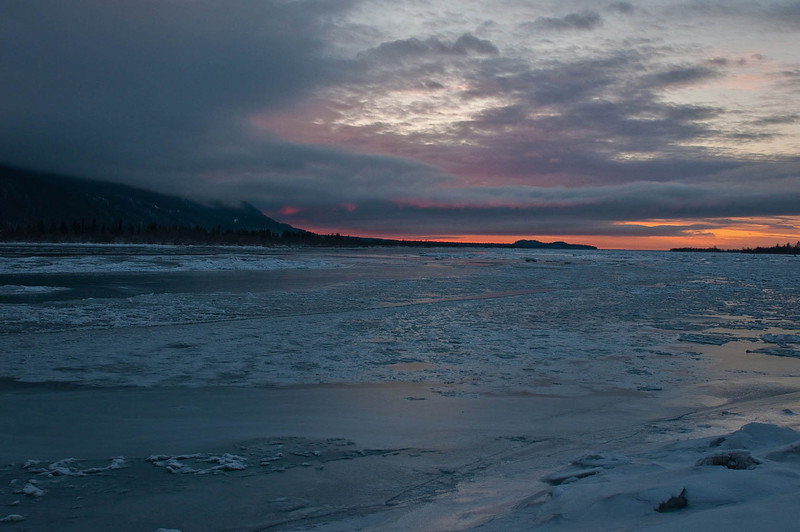 Sunset looking across the Knik River north of Anchorage - November 2013