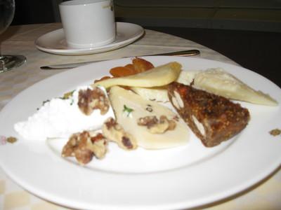 Cheese plate dessert.