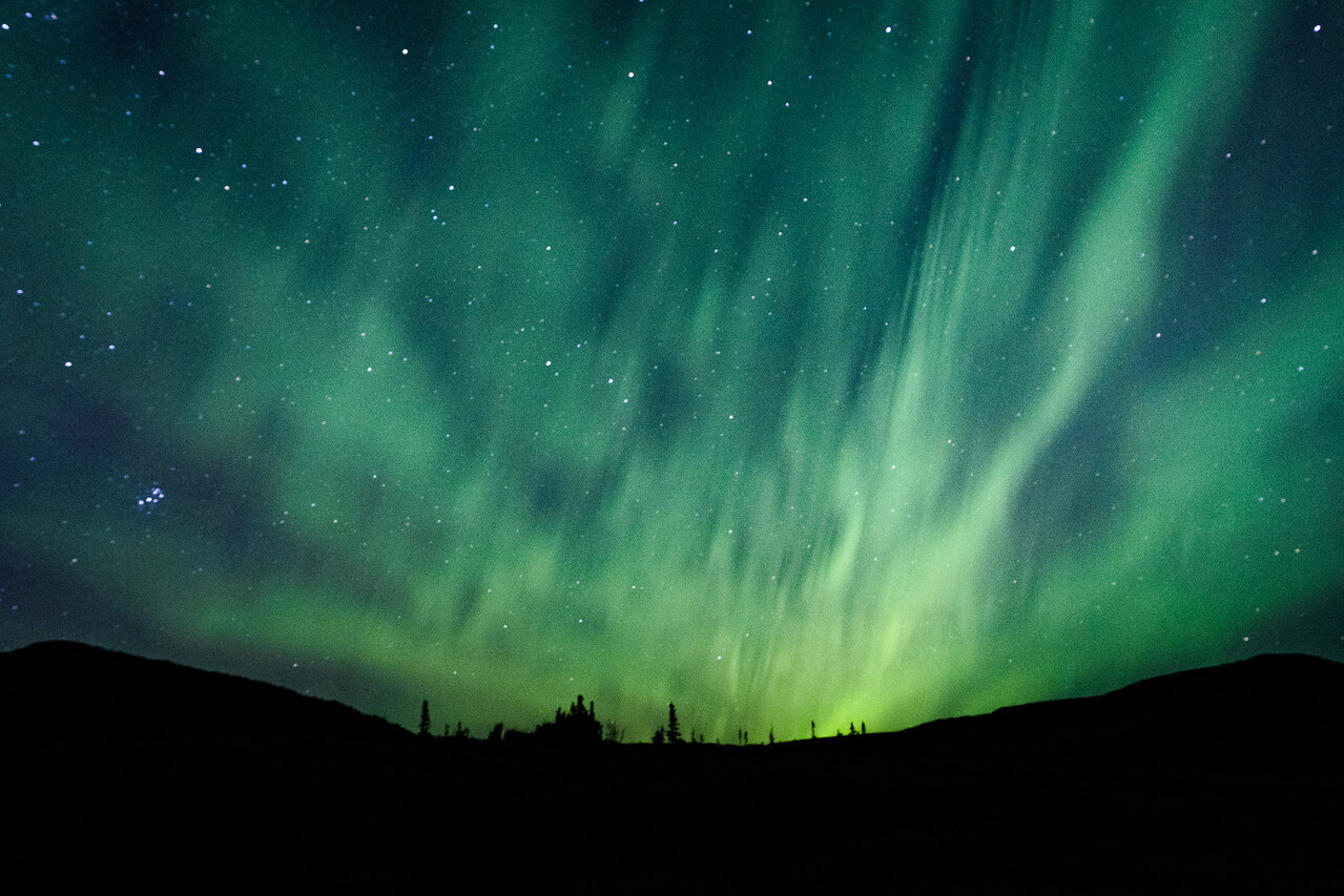 Aurora Above Ridge