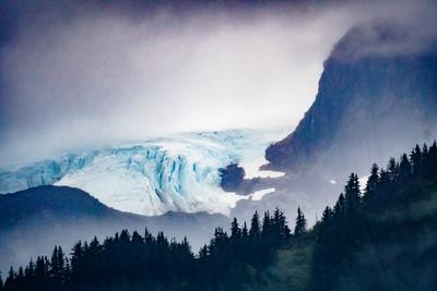 Glacier in the Mist