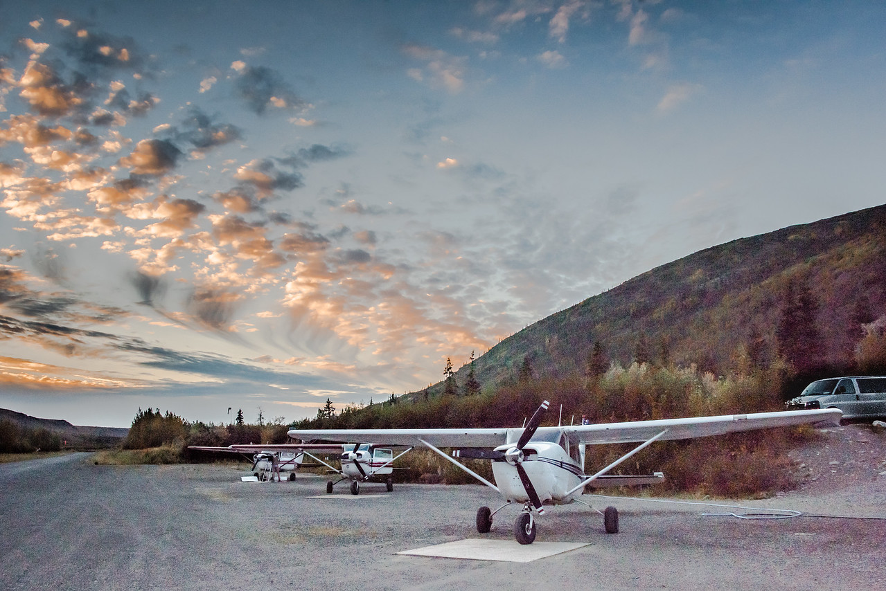 Landing Strip Used for Tourist Flights Over Denali
