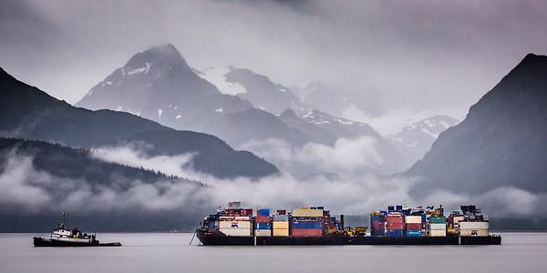Tug Hauling Barge