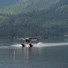 Float plane arriving in Neet's Bay,  Alaska