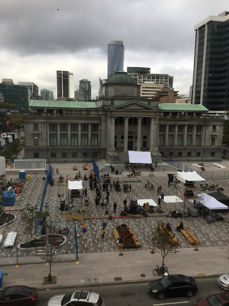Vancouver Art Museum movie making