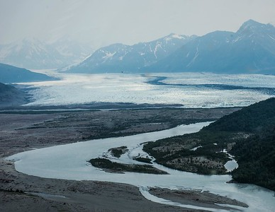Knik River Glacier/Dog Sled