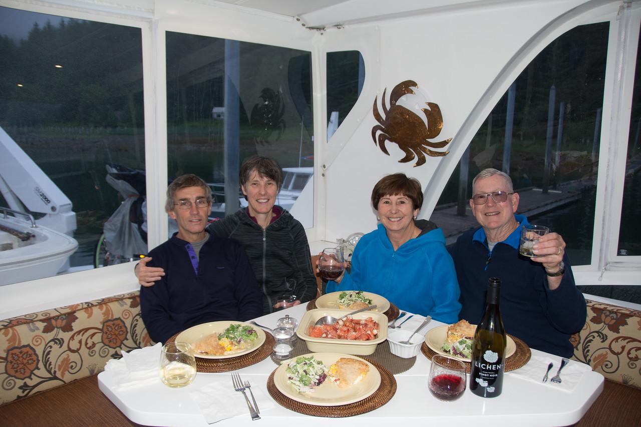 Jane, Malcolm, Linda, & Don.  Taku harbor, Alaska.  2017.