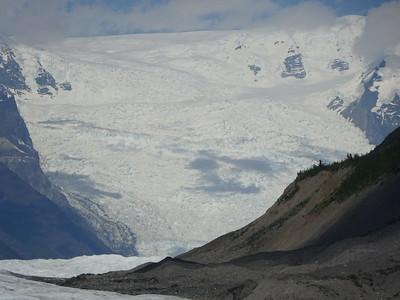Root Glacier ice fall.