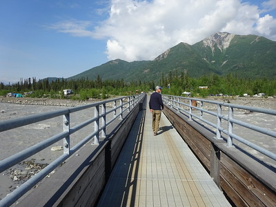 The footbridge over McCarthy Creek.