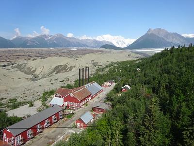 Kennicott, an historic copper mining town in Southeastern Alaska.