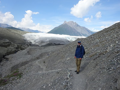 We hike up to the Root Glacier, near McCarthy.