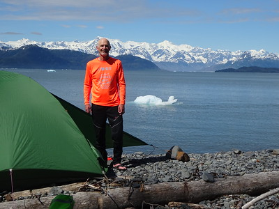 Day 2 Campsite, we move closer to the glacier and the mountains.