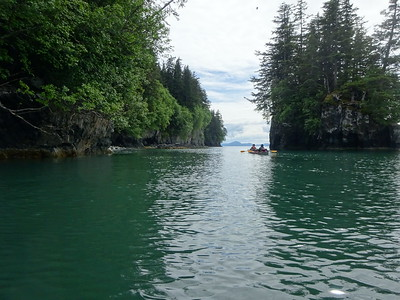 The protected waters are perfect for travel by kayak.