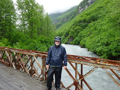 We do a short hike in the rain and see two bears in the span of an hour.  It's Alaska!