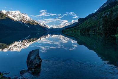 Day breaking on Chilkoot Lake. Magic.