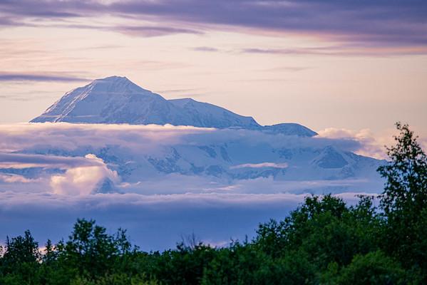 Denali Mountain in evening light