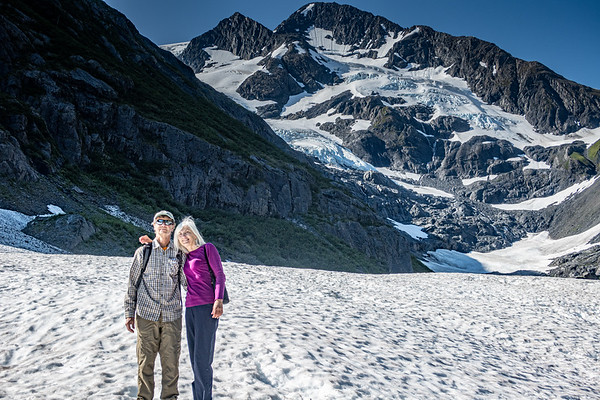 Rosemarie and Gary on the Byron Glacier