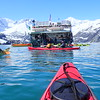 Kayaking near Lamplugh Glacier