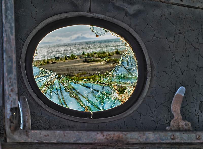 Window in old truck