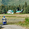 Becky photographing Alaska Homestead Lodge