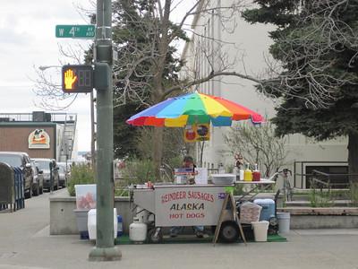A street vendor in Anchorage, Alaska.