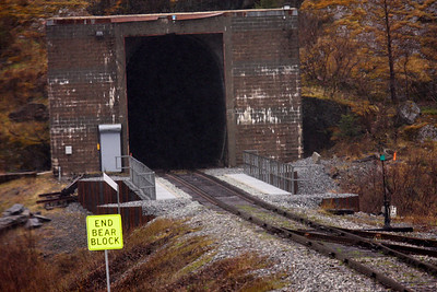 One of the short tunnels the train traveled through from Anchorage, Alaska to Whittier, Alaska.