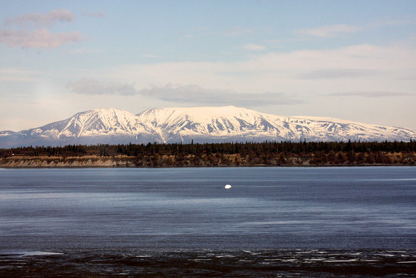 A view of the mountains from Anchorage, Alaska.