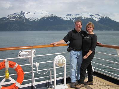 Gary & Carol on the Ryndam.