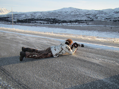 """You do what you have to do to get the photo.  That includes """"middle of the road photography"""" at -3 temps."""