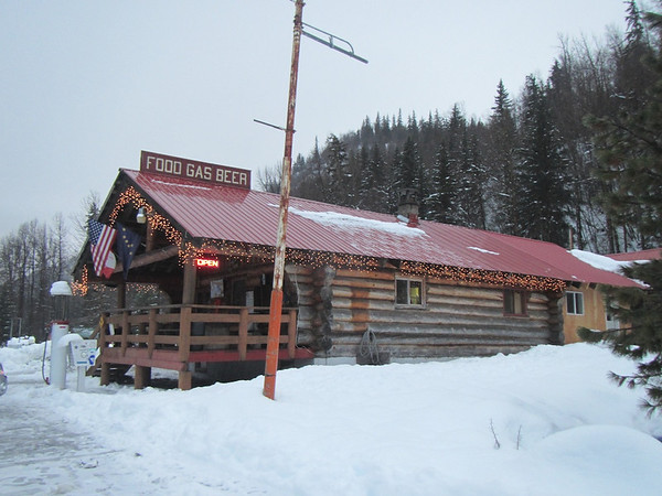33 Mile restaurant, last chance for food and gas before Canada.