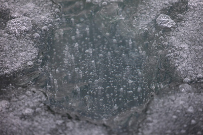 Bubbles frozen in the ice