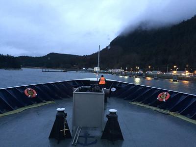 Aurora (ferry) headed to Haines.