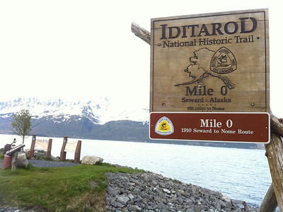 Iditarod, Carol's passion, starts in Seward, AK.