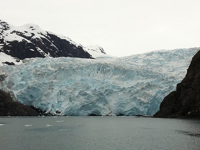 Holgate Glacier was very active and we were able to see glacial calving.