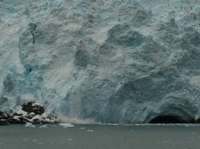 Our boat was small enough to feel the waves from the glacial calving.